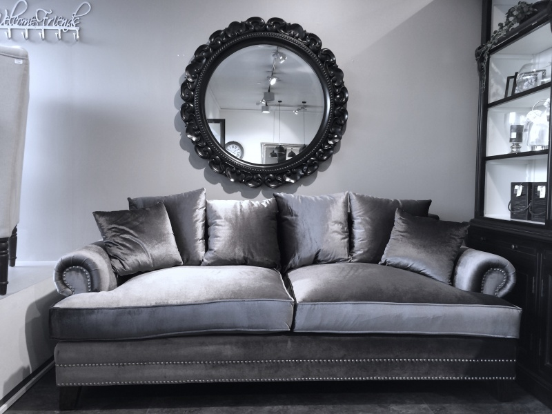 Elskede Avignon 3-seter grå velour - Paradiset Interiør #IZ-45